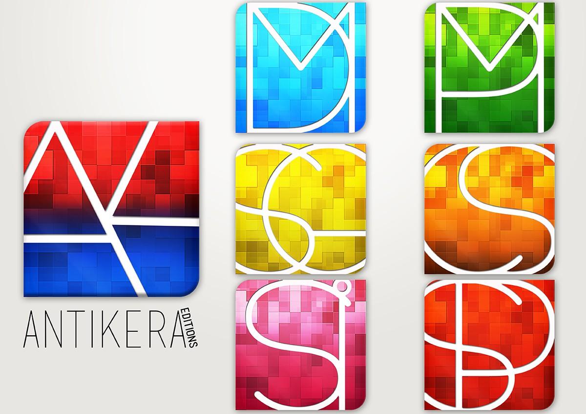 Créations graphique Logos Antikera et logiciels